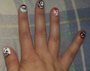my halloween nail art